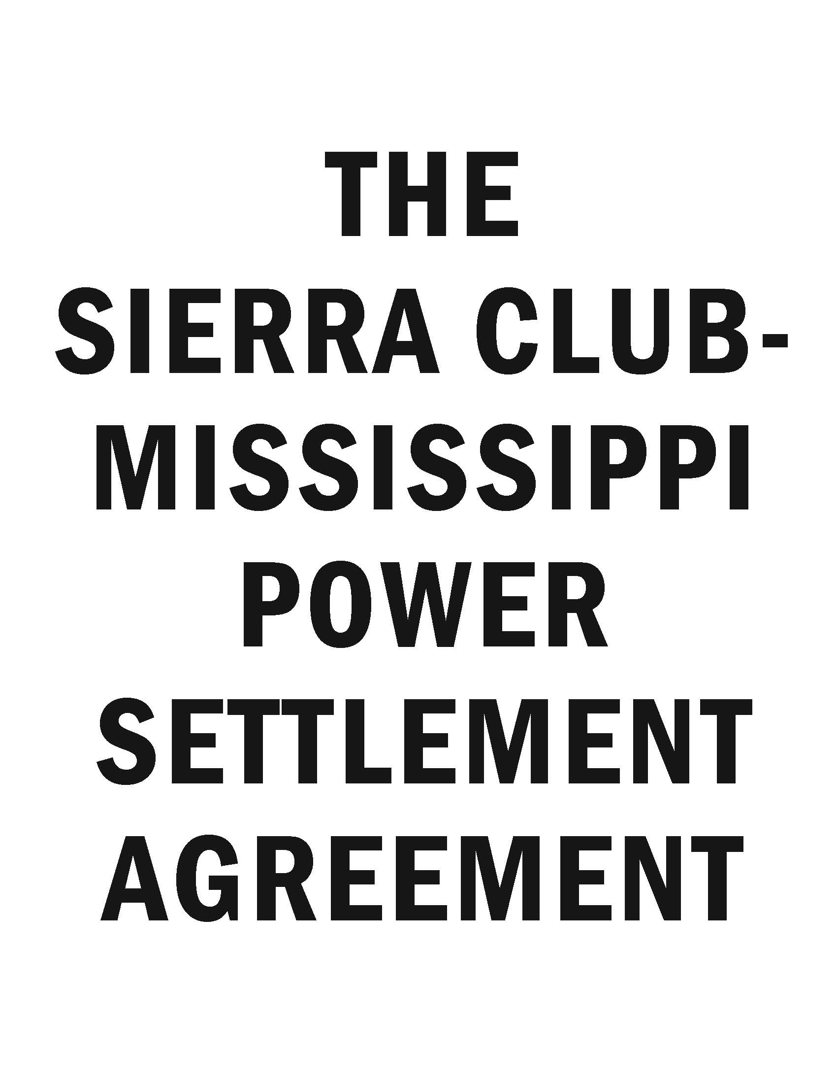 view the settlement between Mississippi Power and the Sierra Club